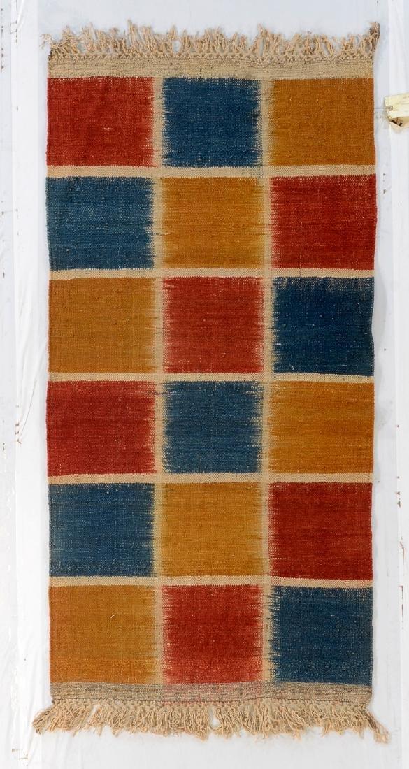 Nambu Natural Dye Ikat Kilim, Nepal: 3'4'' x 6'6''