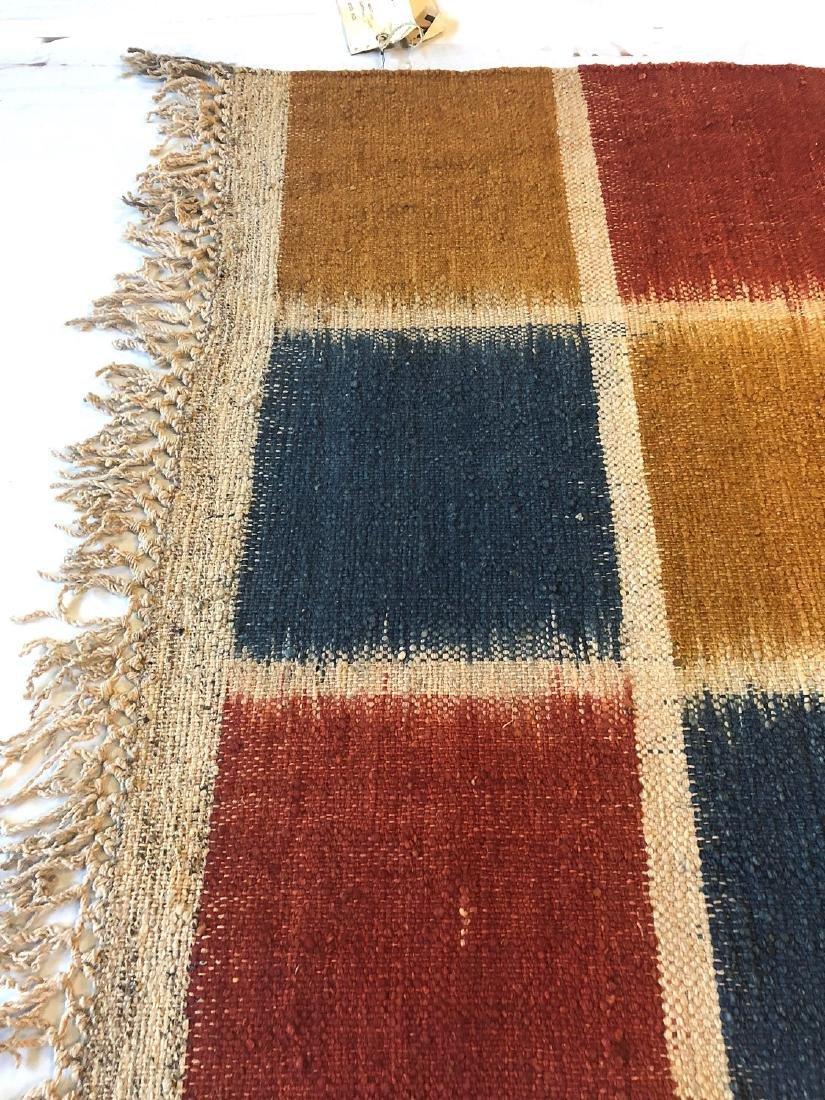 Nambu Natural Dye Ikat Kilim, Nepal: 3'4'' x 6'6'' - 3