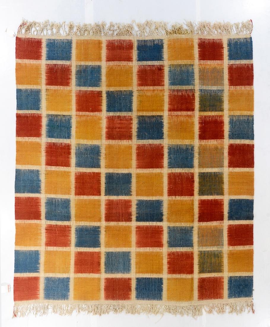 Nambu Natural Dye Ikat Kilim, Nepal: 8'4'' x 9'2''