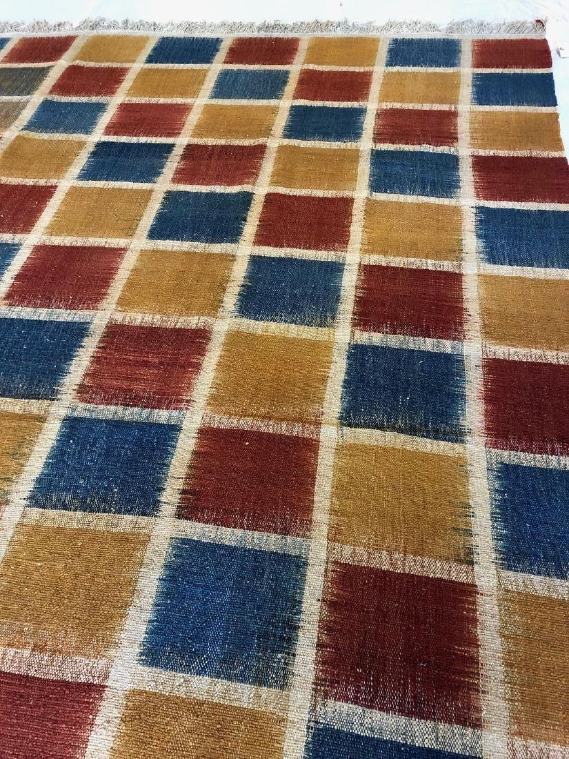 Nambu Natural Dye Ikat Kilim, Nepal: 8'4'' x 9'2'' - 2