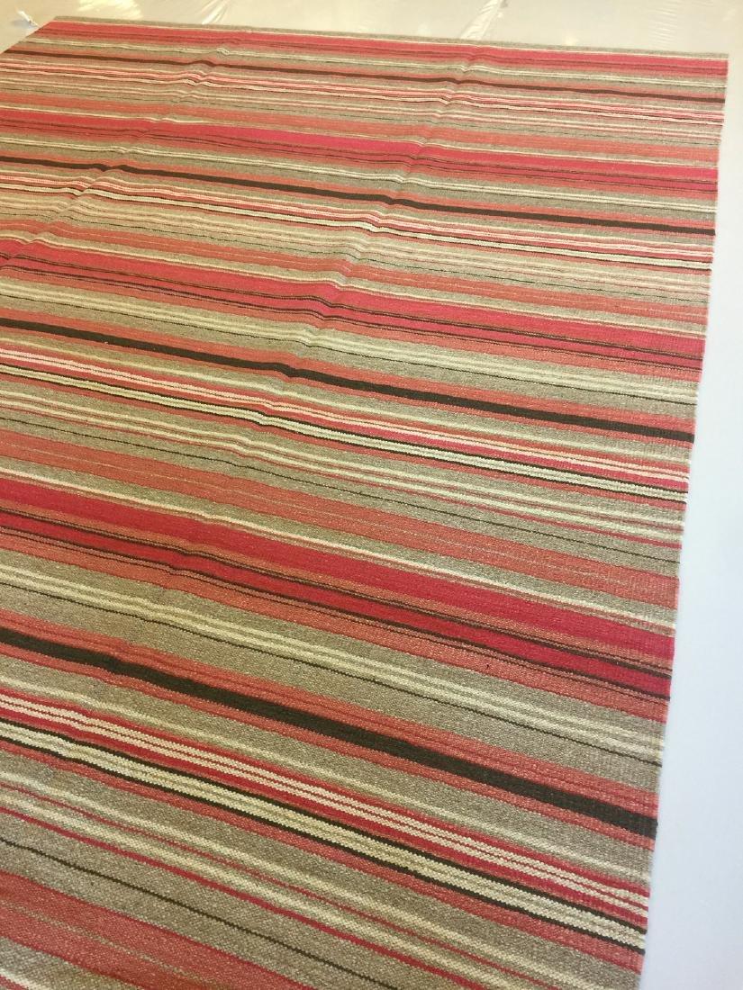 Modern Striped Nepali Wool Kilim: 9'4'' x 12' - 2
