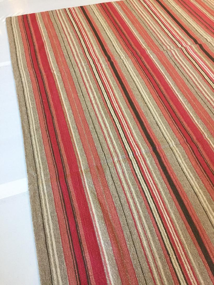 Modern Striped Nepali Wool Kilim: 9'4'' x 12' - 3