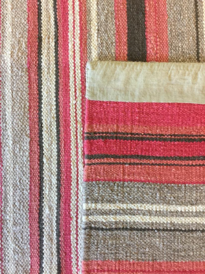 Modern Striped Nepali Wool Kilim: 9'4'' x 12' - 5