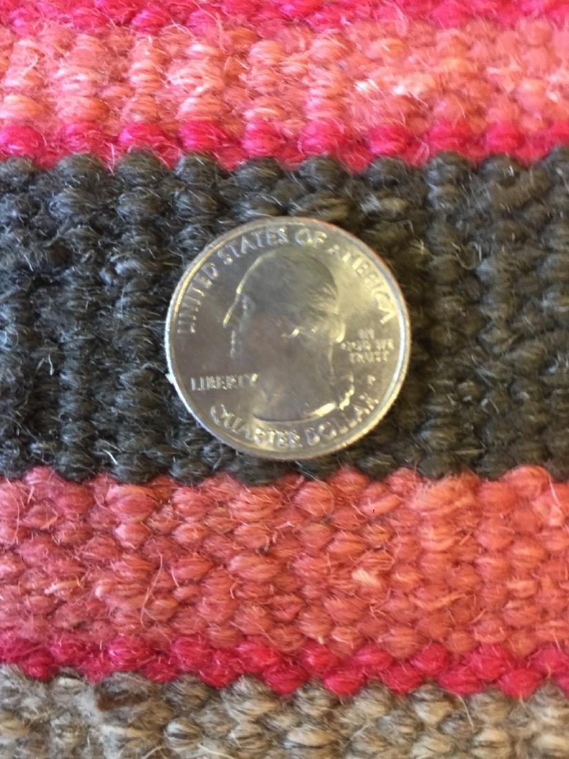 Modern Striped Nepali Wool Kilim: 9'4'' x 12' - 6