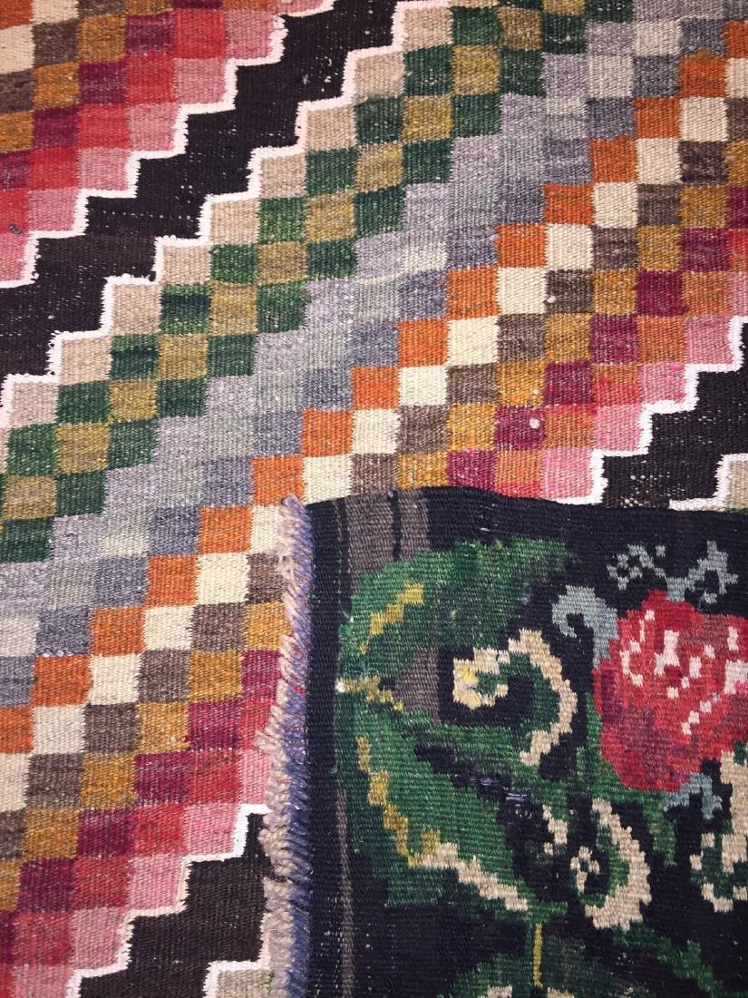 Semi-Antique Bessarabian Wool Kilim, Romania: 4'11'' x - 2
