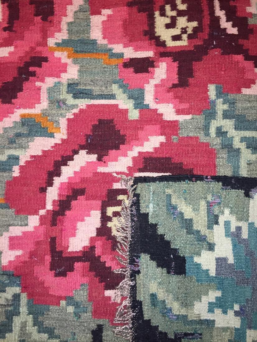 Semi-Antique Bessarabian Wool Kilim, Romania: 5'1'' x - 2