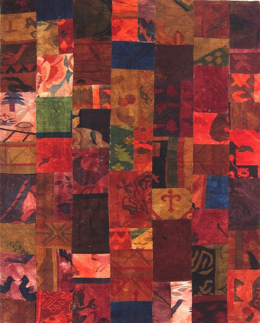 Patchwork Rug Composed of Turkish Kilim Fragments: