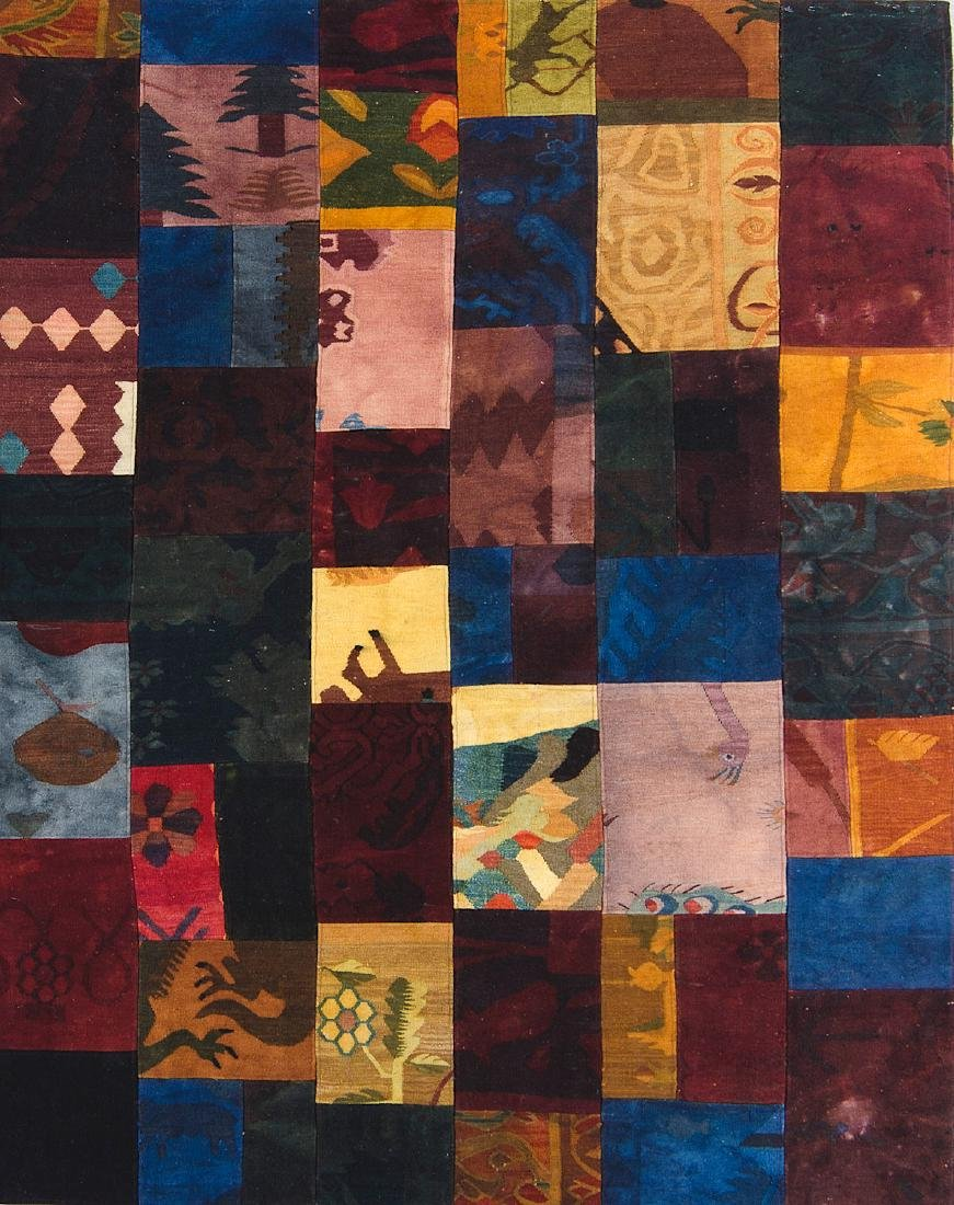 Patchwork Rug Composed of Turkish Kilim Fragments: