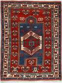 Antique Kazak Rug, Caucasus: 4'6'' x 6'
