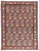 Fine Antique Silk Foundation Senneh Rug: 5' x 6'7''