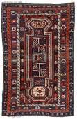 Antique Kuba Rug, Caucasus: 4'2'' x 6'6''