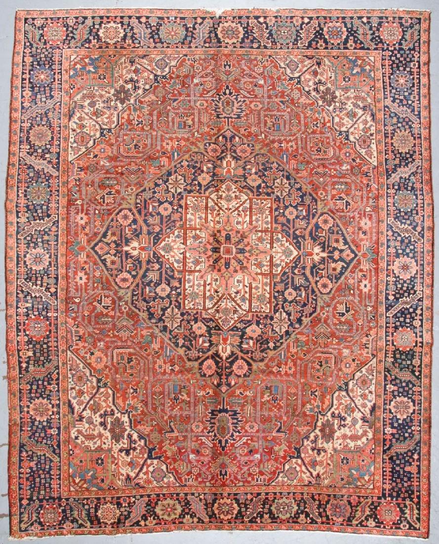 Antique Heriz Rug, Persia: 9'7'' x 11'8''