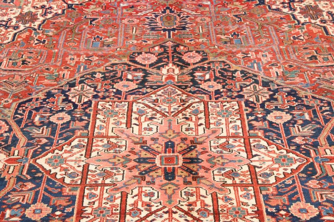 Antique Heriz Rug, Persia: 9'7'' x 11'8'' - 6