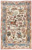 Semi-Antique Qum Rug, Persia: 4'9'' x 7'4''