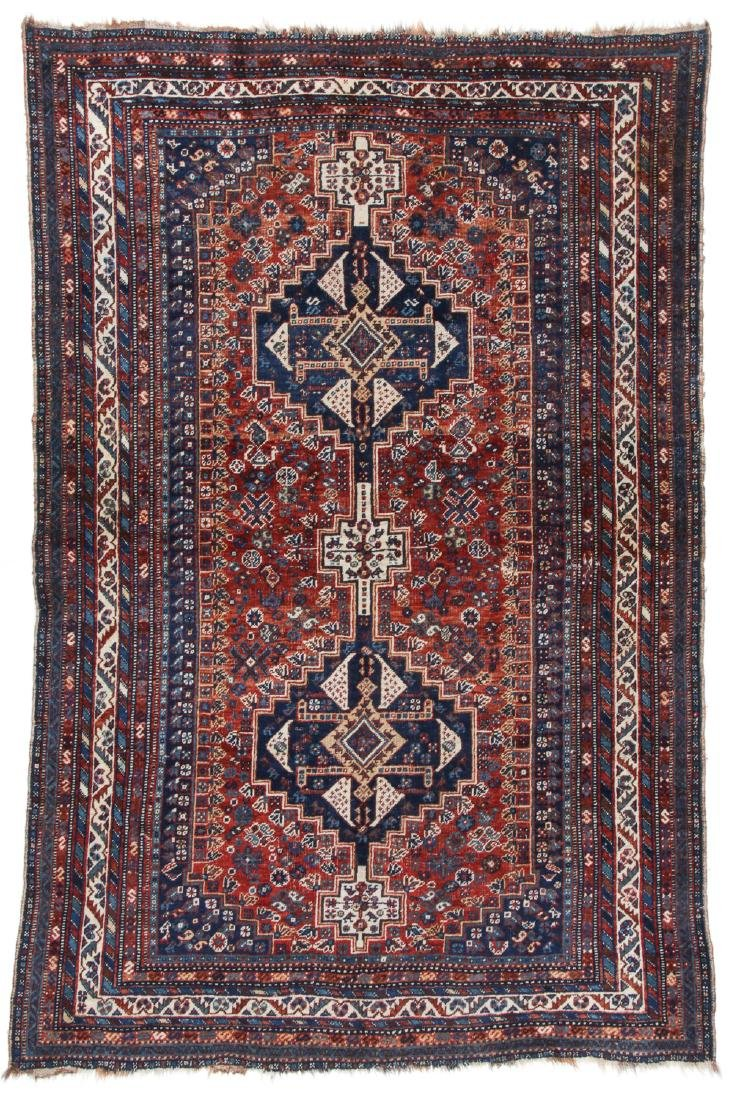 Antique Afshar Rug, Persia: 5'3'' x 8'1''