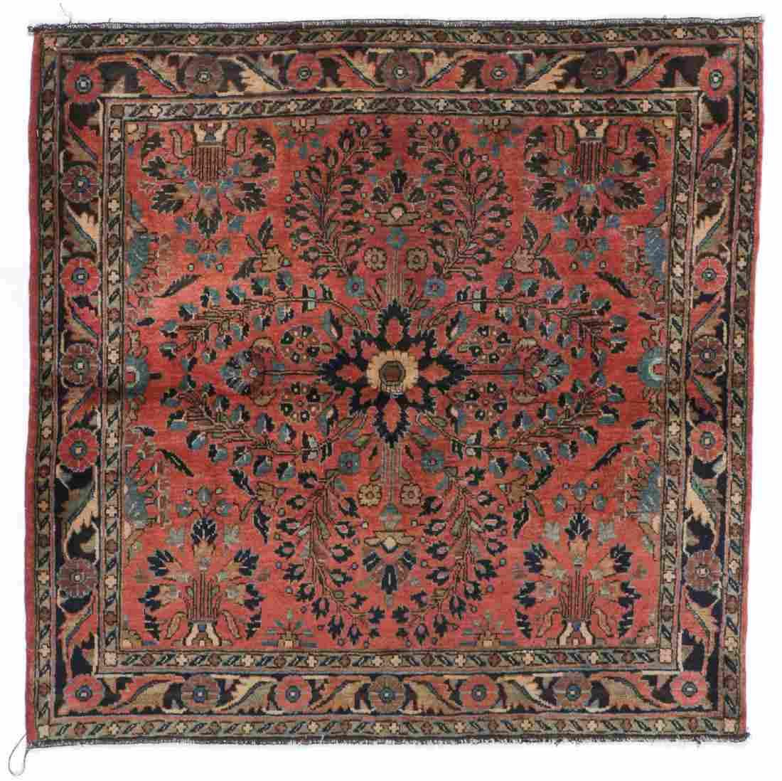 Antique Sarouk Rug, Persia: 3'4'' x 3'4''