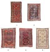 5 Estate Antique Oriental Rugs