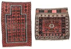 Antique Beluch Prayer Rug & Bagface