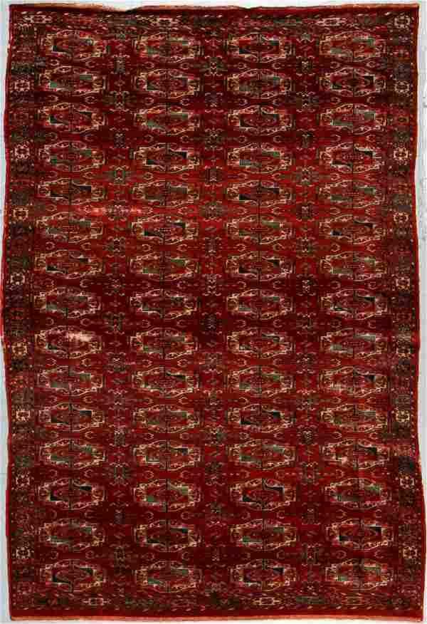 Vintage Tekke Style Rug, Turkey: 5'5'' x 8'