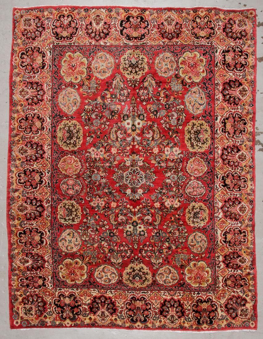 Semi-Antique Sarouk Rug: 8'10'' x 11'6''