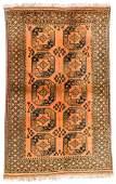 Vintage Afghan Rug, mid 20th c: 5'4'' x 8'5'' (163 x