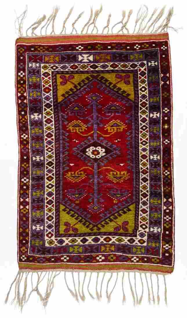 Semi-Antique Turkish Village Rug: 3'6'' x 5'3''