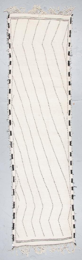 Modern Beni Ourain Rug: 3' x 11' - 7