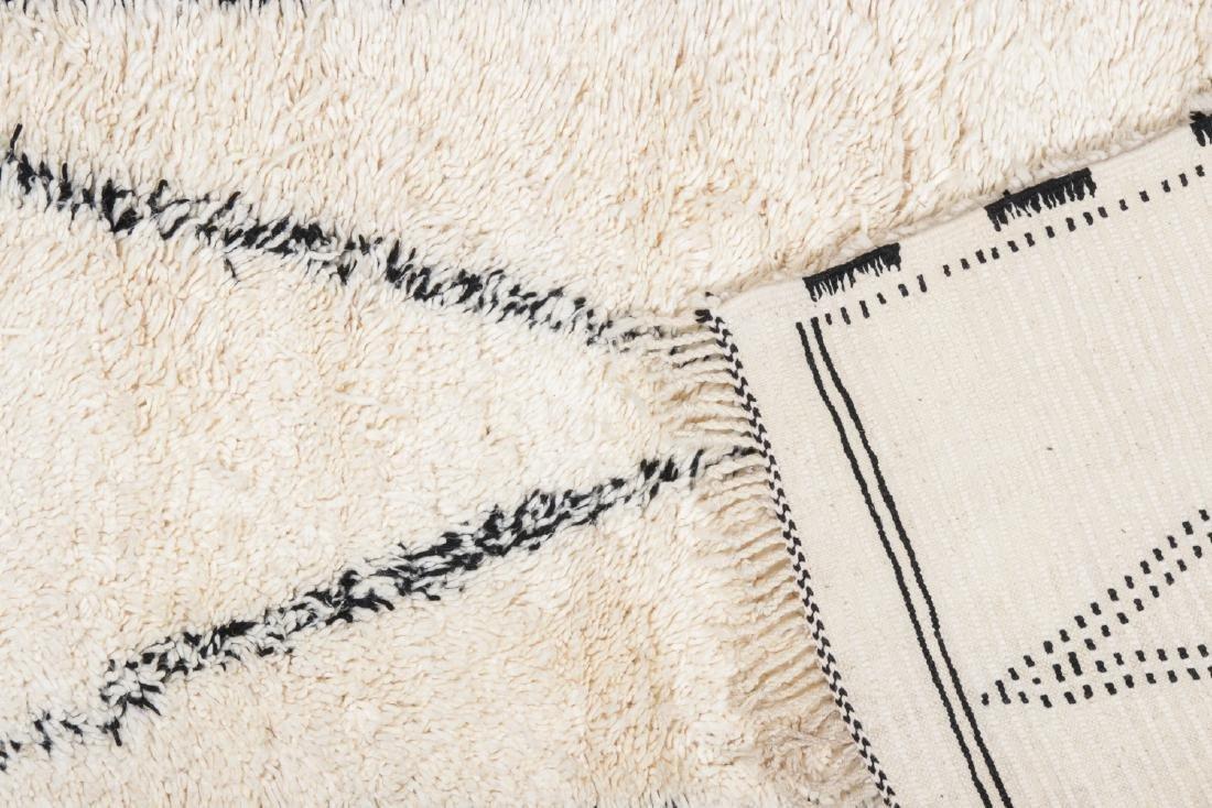 Modern Beni Ourain Rug, Morocco: 2'10'' x 14'11'' - 4