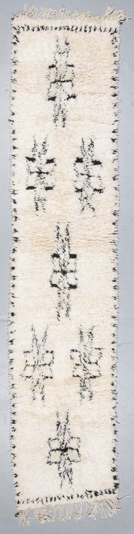 Modern Beni Ourain Rug, Morocco: 2'11'' x 13'1''