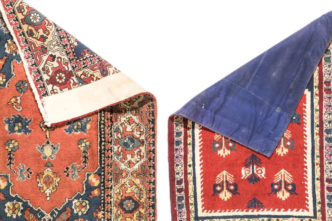 2 Antique European Hooked Rugs in Oriental Pattern - 3