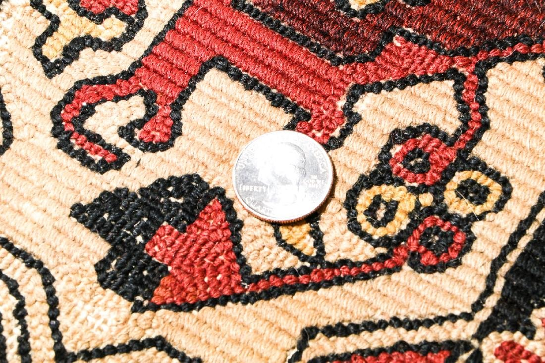 2 Antique European Hooked Rugs in Oriental Pattern - 4