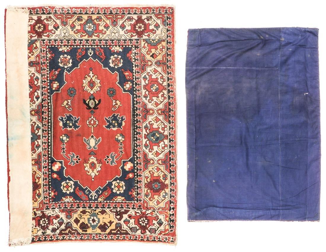 2 Antique European Hooked Rugs in Oriental Pattern - 6