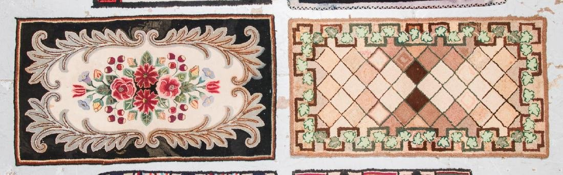 Estate lot of 6 Antique American Hooked Rugs - 3