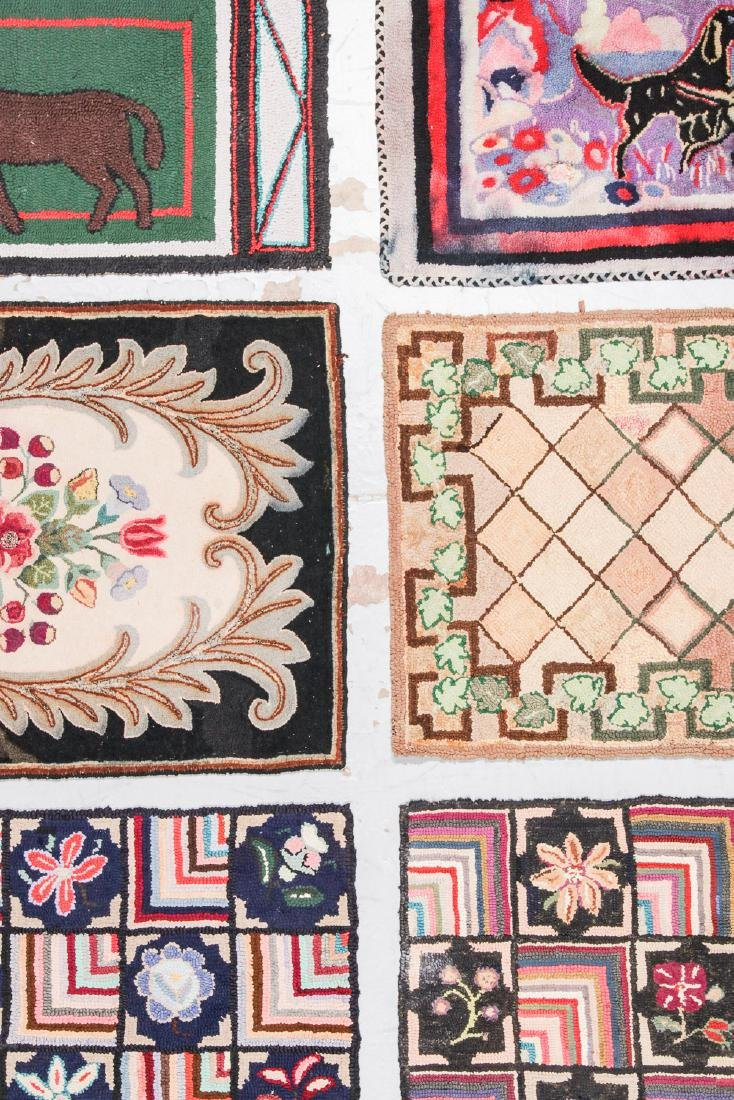 Estate lot of 6 Antique American Hooked Rugs - 5