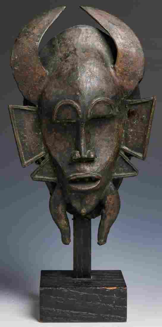 Senufo Bronze Kpelie Mask, Ivory Coast