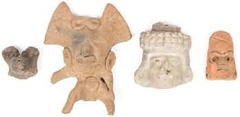 4 Pre-Columbian Relics