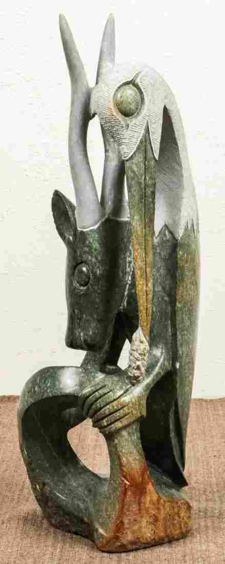 Fine Modern Shona Stone Sculpture, Zimbabwe