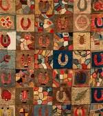 Antique American Folk Art Rug