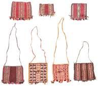 7 Old/Antique Bolivian Coca Bags
