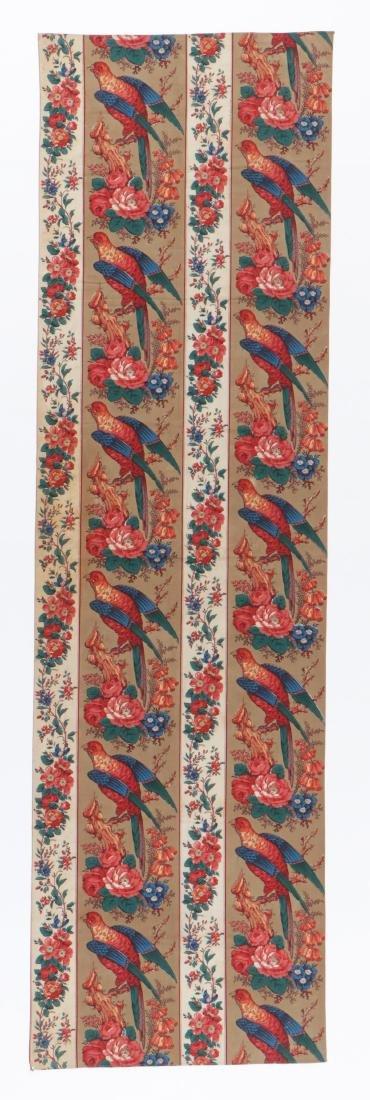 19th C. Chintz Textile Panel
