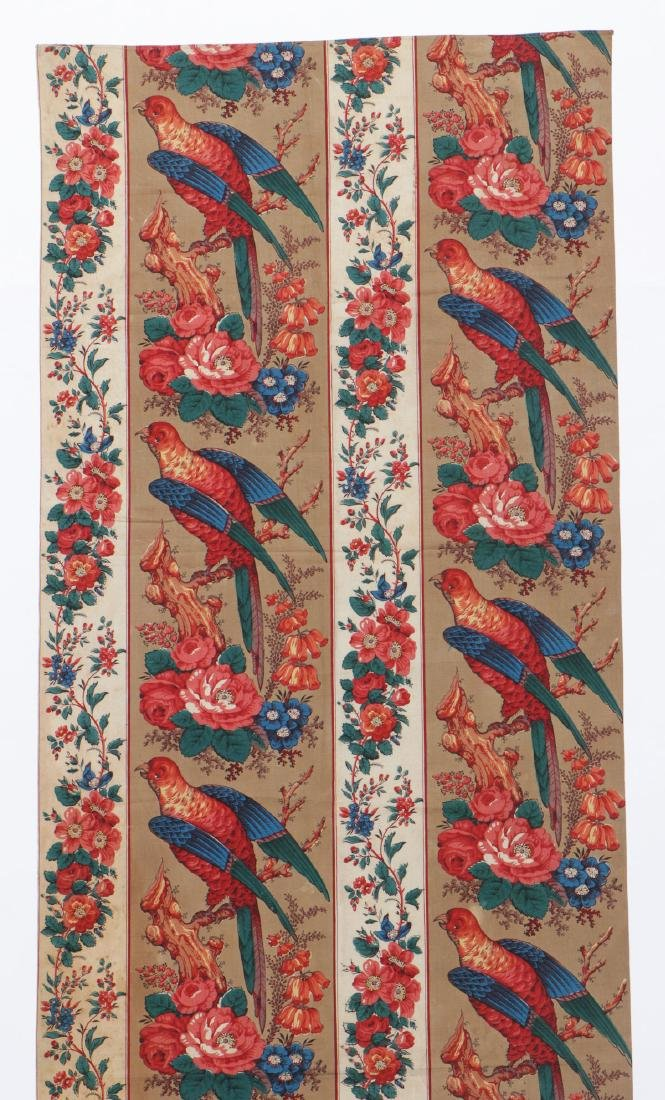 19th C. Chintz Textile Panel - 2