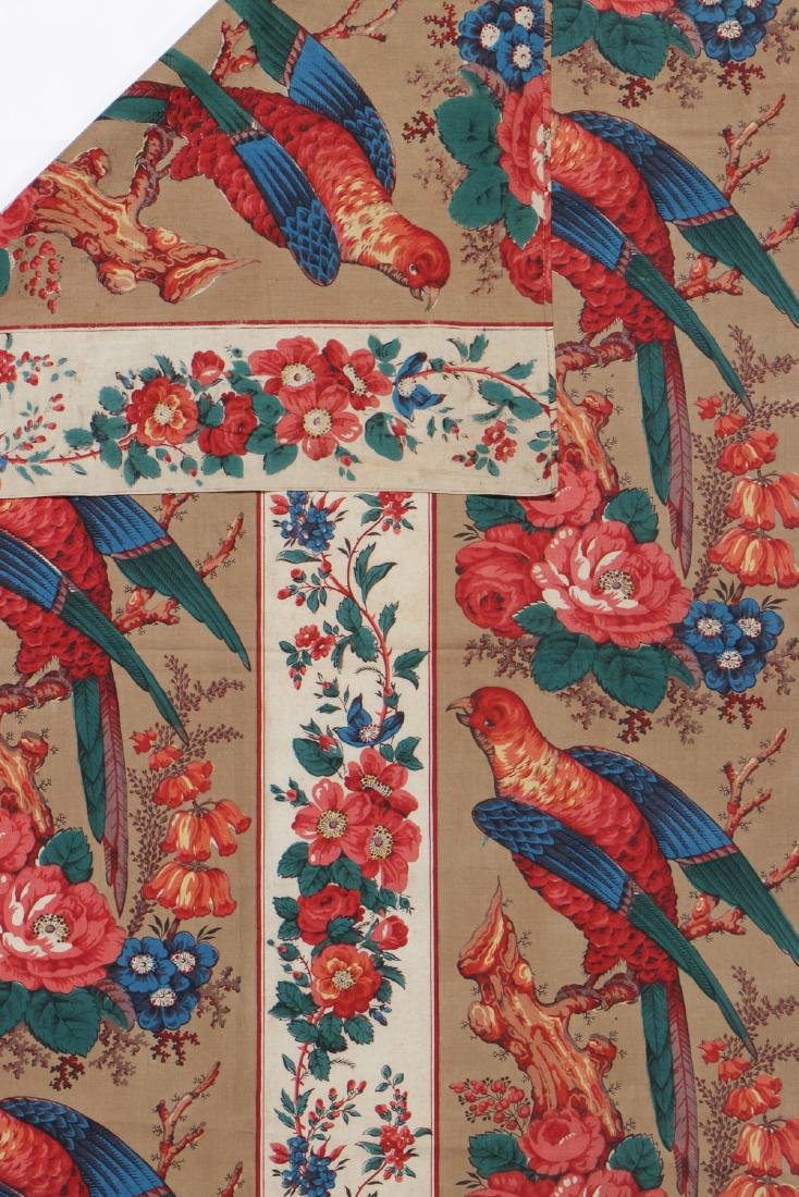 19th C. Chintz Textile Panel - 3