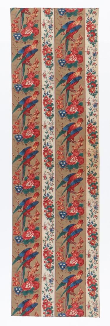 19th C. Chintz Textile Panel - 4