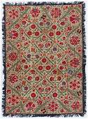 Antique Central Asian Suzani 56x40