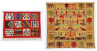2 Mid Century Folk Weavings
