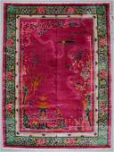 """Fine Chinese Art Deco Rug, Early 20th C: 9'10"""" x 13'3"""""""