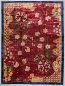 Chinese Art Deco Rug, Early 20th C: 9'10'' x 13'3''