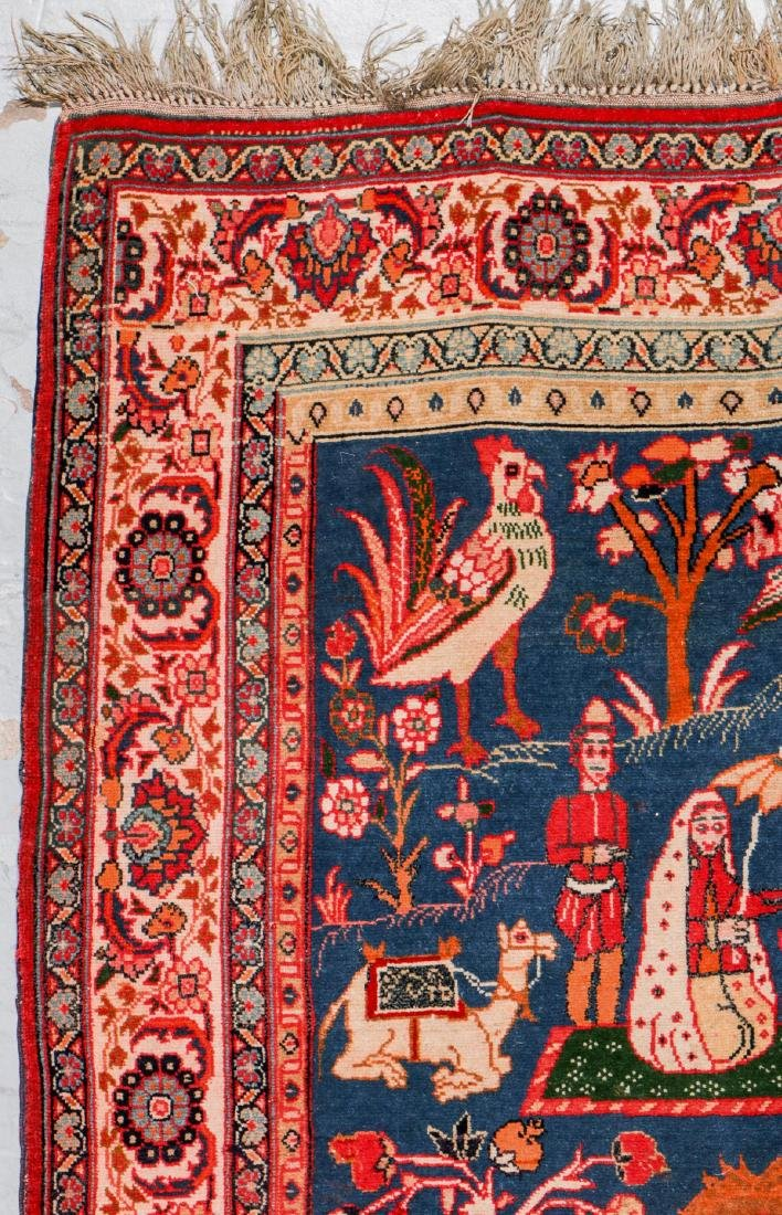 West Persian Pictorial Rug: 6'1'' x 4'7'' - 2