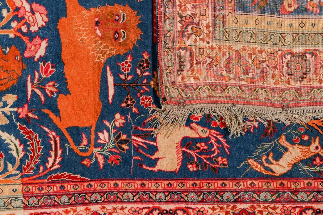 West Persian Pictorial Rug: 6'1'' x 4'7'' - 4