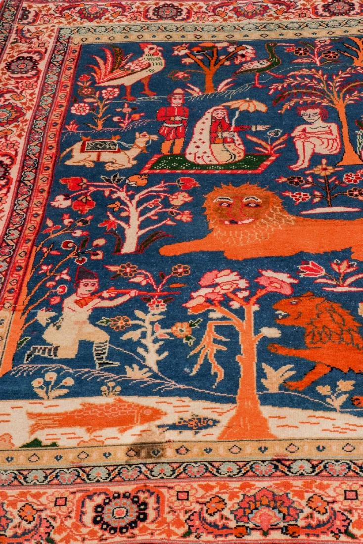 West Persian Pictorial Rug: 6'1'' x 4'7'' - 6